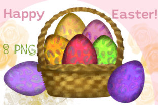Print on Demand: Leopard Print Eggs, Happy Easter Clipart Graphic Illustrations By Iva Art
