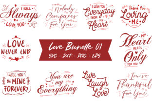 Print on Demand: Love Quotes Bundle Graphic Graphic Print Templates By TypeFactory