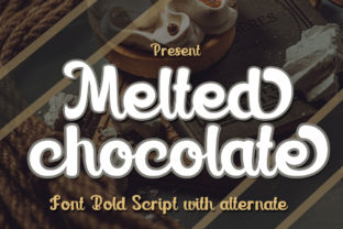 Print on Demand: Melted Chocolate Display Font By edwar.sp111