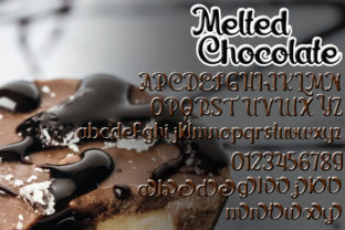 Print on Demand: Melted Chocolate Display Font By edwar.sp111 4
