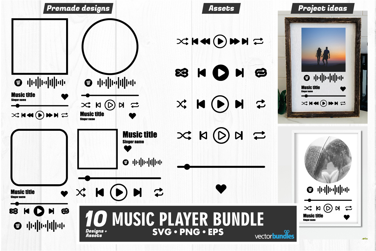 Music Player Acrylic Template Svg SVG File