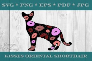 Oriental Shorthair Cat Kisses Graphic Crafts By Designs of Whimsy