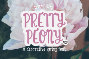 Print on Demand: Pretty Peony Display Font By dixietypeco