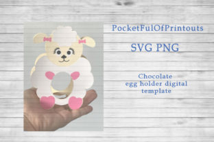 Sheep Chocolate Egg Holder Template Graphic 3D SVG By PocketFulOfPrintouts