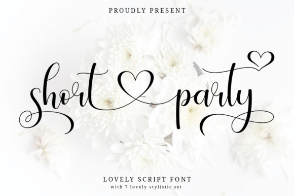 Print on Demand: Short Party Script & Handwritten Font By Typesthetic Studio