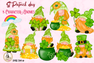 Print on Demand: St Patrick's Day Gnomes Cute Clipart Graphic Illustrations By Suda Digital Art