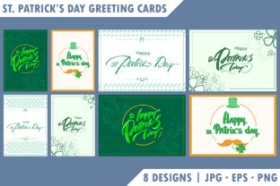 St. Patrick's Day Greeting Cards Graphic Illustrations By SKvector