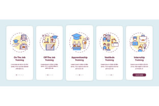 Print on Demand: Staff Training Methods Mobile App Pages Graphic Graphic Templates By bsd studio