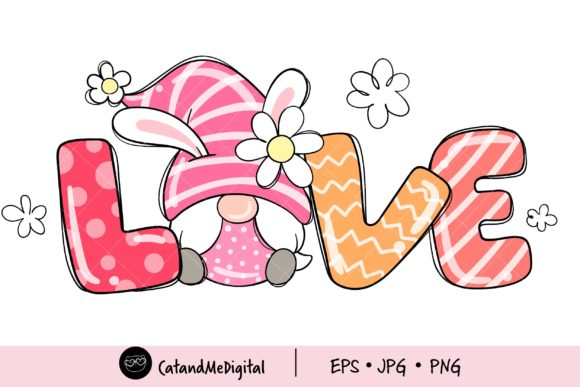 Sweet Gnome Easter Clipart Graphic Illustrations By CatAndMe
