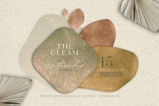The Gleam Watercolor Shapes Graphic Backgrounds By suna__kosem