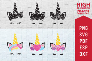 Unicorn Face 6 Pack Graphic 3D SVG By Taita Digital