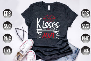 Print on Demand: Valentine's Day Design, Kisses 2021... Graphic Print Templates By Design Store Bd.Net