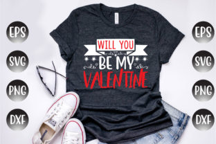 Print on Demand: Valentine's Day Design, Will You Be My.. Graphic Print Templates By Design Store Bd.Net