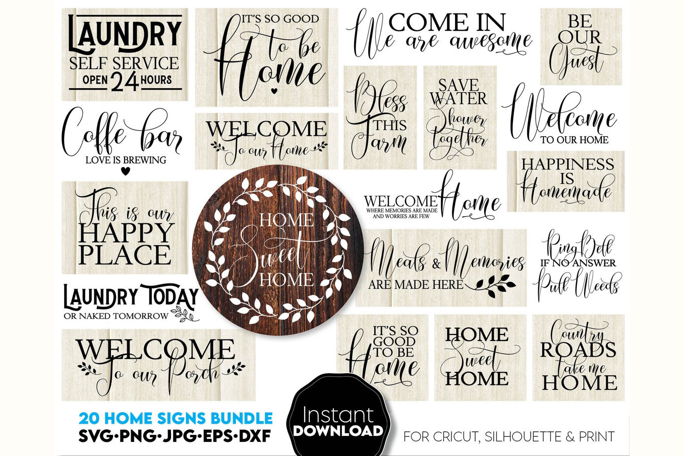 Welcome Sign Farmhouse Sign SVG File