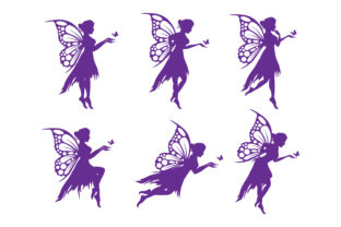 Print on Demand: Fairy and Butterfly Silhouette Graphic Illustrations By curutdesign