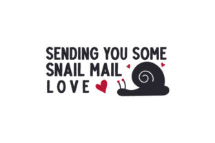 Sending You Some Snail Mail Love Valentine's Day Craft Cut File By Creative Fabrica Crafts