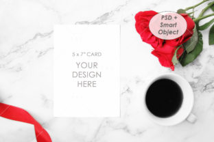 5″ X 7″ Card Mockup Graphic Product Mockups By thesundaychic