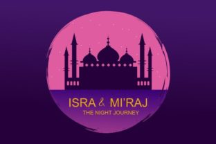 Print on Demand: Al-isra Wal Mi'raj Means the Night Graphic Logos By DEEMKA STUDIO