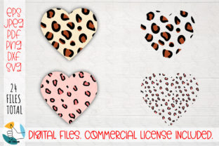 Print on Demand: Animal Print Heart SVG Cut File. Graphic Crafts By OK-Design