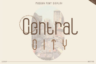 Print on Demand: Central City Display Font By andtype
