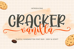 Print on Demand: Cracker Vanilla Script & Handwritten Font By airotype