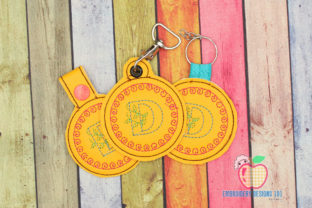 D Name Key Fob School & Education Embroidery Design By embroiderydesigns101