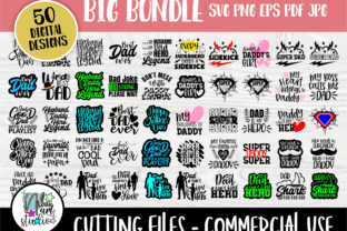 Print on Demand: Dad SVG Bundle, Fathers Day Svg, Funny Graphic Crafts By nibaartstudio