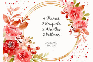 Print on Demand: Digital Clipart Floral Watercolor Part18 Graphic Illustrations By asrulaqroni