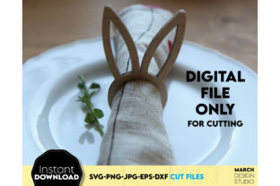 Easter Bunny Napkin Rings Graphic Crafts By March Design Studio