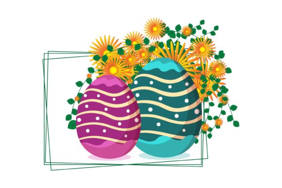 Easter Egg Flower Illustrasi - 05-08 Graphic Illustrations By garnetastudio