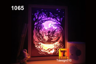 Fairy Tale Paper Cut Light Box 3D Shadow Graphic 3D Shadow Box By Tdesign510
