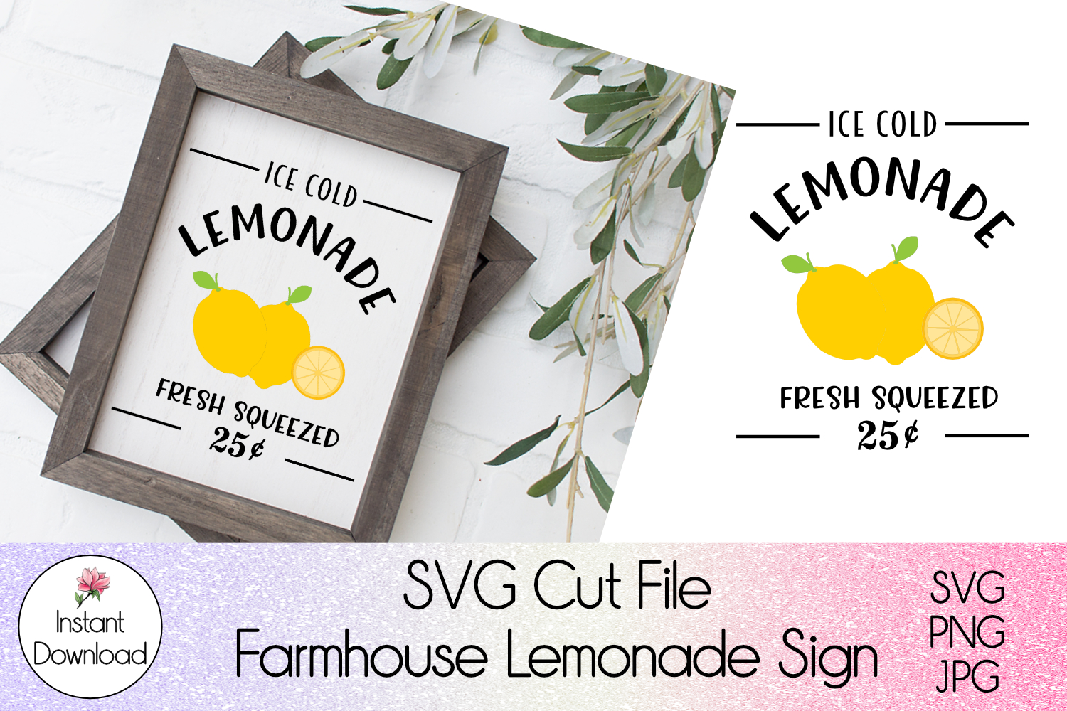 Farmhouse Sign L when Life Gives You SVG File