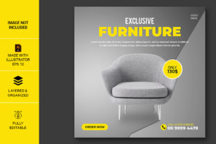Furniture Social Media Template Design Graphic Web Templates By Pdstock