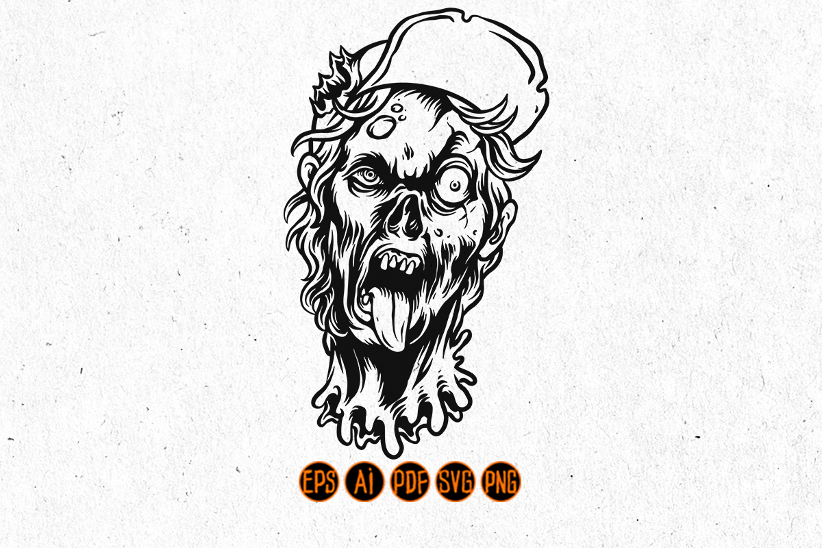 Halloween Scary Teenager Zombie SVG File
