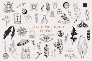 Hand Drawn Celestial Witchcraft Bundle Grafik Illustrationen von Kirill's Workshop