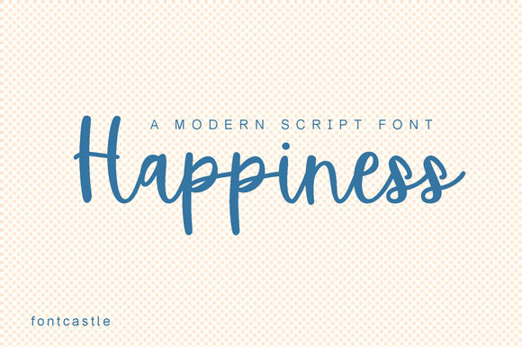 Print on Demand: Happiness Script & Handwritten Font By FontCastle