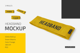 Headband Mockup Set Graphic Product Mockups By country4k