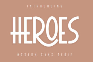 Print on Demand: Heroes Sans Serif Font By Skiiller Studio