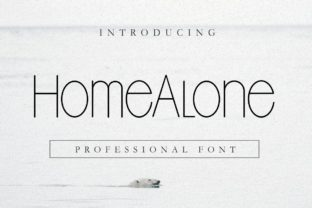 Print on Demand: Home Alone Sans Serif Font By Pidco.art