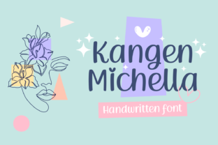 Print on Demand: Kangen Michella Script & Handwritten Font By Situjuh