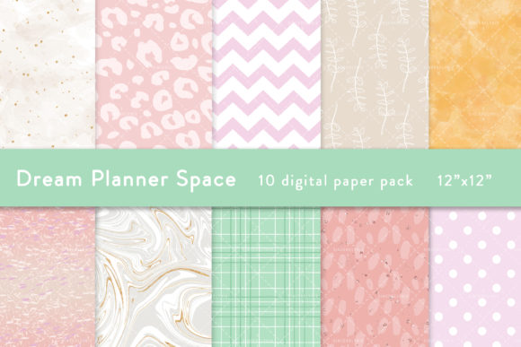 Planner Digital Paper Pastel Pattern Graphic Patterns By SincerelyNix