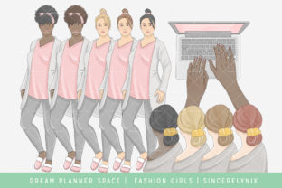 Print on Demand: Planner Girl Boss Clipart Graphic Illustrations By SincerelyNix