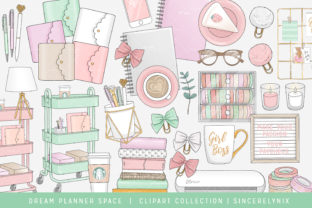 Planner Space Office Stay Home Grafik Illustrationen von SincerelyNix