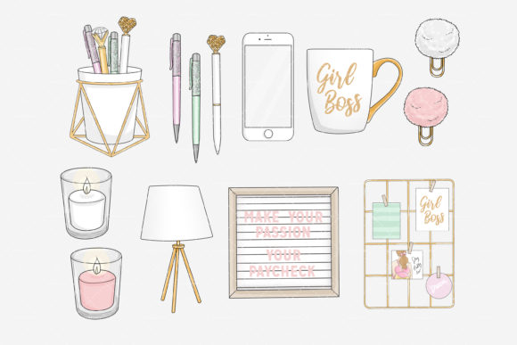 Planner Space Office Stay Home Graphic Download