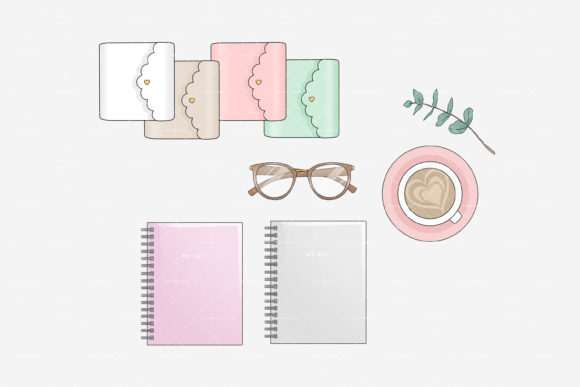Planner Space Office Stay Home Graphic Design
