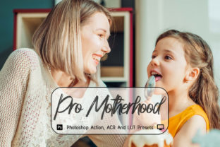 Print on Demand: Pro Motherhood Photoshop Action Graphic Actions & Presets By 3Motional