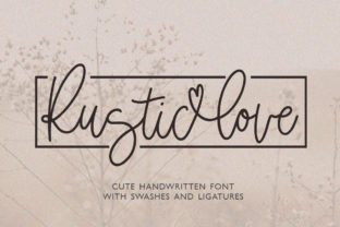 Print on Demand: Rustic Love Script & Handwritten Font By Masha Artifex