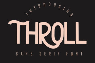Print on Demand: Throll Sans Serif Font By Skiiller Studio