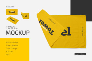 Towel Mockup Set Graphic Product Mockups By country4k 1