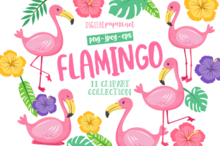 Print on Demand: Tropical Flamingo Graphic Illustrations By DigitalPapers